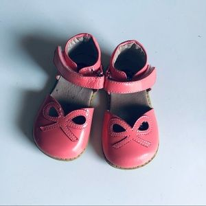 Livie & Luca Petal Leather Shoes in Coral Pink
